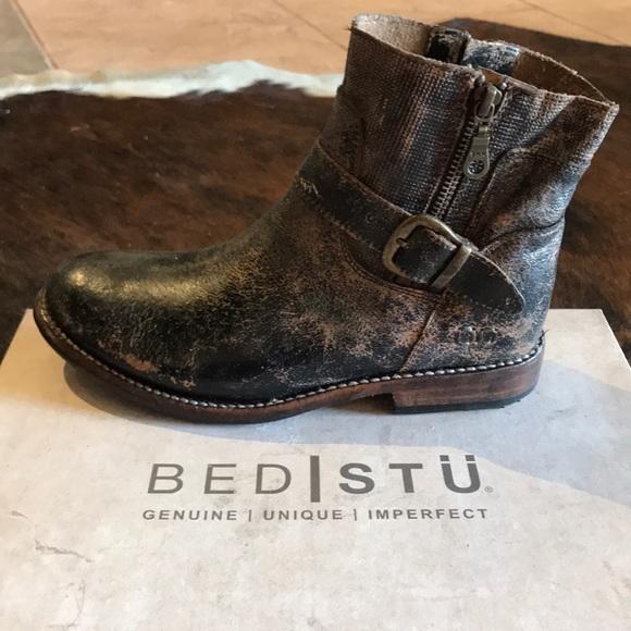 3456cf894c2 Bed Stu Becca ankle boot in black lux NWT